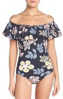 Tory Burch Women's Bay Ruffle One-Piece Swimsuit