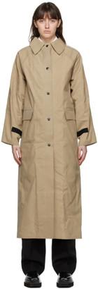 Kassl Editions Beige Wax Trench Coat