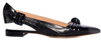 Francesco Russo Knotted Leather Sling Flat