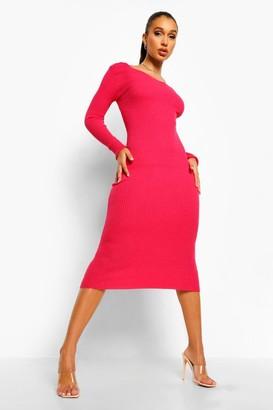 boohoo Rib Knit Midaxi Dress