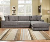 Asstd National Brand Fabric Possibilities Ponderosa Quick Ship 2pc Left Arm Facing Sectional in Curious