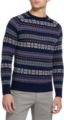 Peter Millar Men's Striped Crewneck Sweater