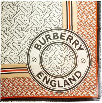Burberry Logo Motif Print Scarf