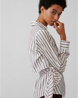 Express striped wrap shirt