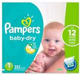 Pampers Baby DryTM 252-Count Size 1 Economy Pack Plus Disposable Diapers