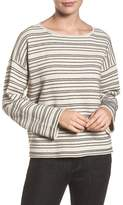 Eileen Fisher Stripe Organic Cotton Blend Sweater