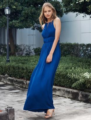 Forever New Shana Pleated Maxi Dress - Cobalt - 10