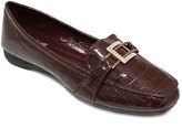 Brown Buckle-Accent Loafer