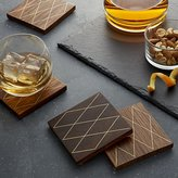 Crate & Barrel Draper Coasters Set of Four