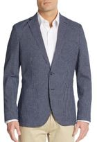 Saks Fifth Avenue Slim-Fit Windowpane-Check Sportcoat