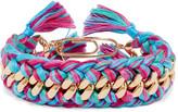 Aurelie Bidermann Do Brasil gold-plated braided cotton bracelet