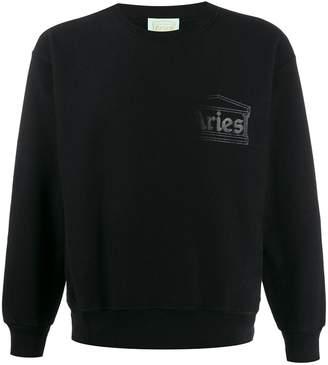 Aries fading logo sweatshirt