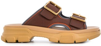 Gucci Leather Chunky Sandals