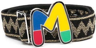 M Missoni Monogram Plaque Buckled Belt