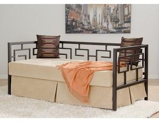In Style Furnishings Greek Key Twin Daybed Finish: Deep Bronze, Size: Sofa Depth