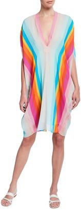 Trina Turk Getaway Silky Stripe Caftan