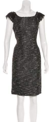 Alberta Ferretti Embellished Sheath Dress