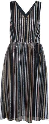 Dorothy Perkins Womens **Luxe Multi Colour Striped Sequin Midi Skater Dress