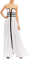 Nicole Miller Gladiator Strapless Gown