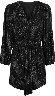 Isabel Marant Vienna Glitter Print Jersey Mini Dress