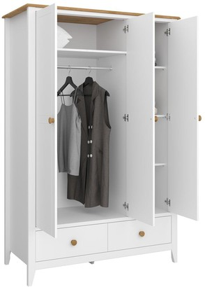 Heston 3 Door, 2 Drawer Wardrobe