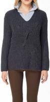 Max Studio Hand-Knit V-Neck Pullover