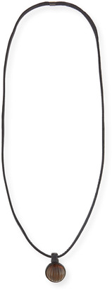 eskandar Carved Horn Pendant Strung On Leather
