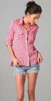 C&c California Gingham Check Roll Sleeve Pocket Shirt