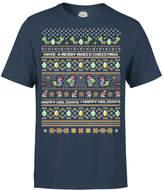 Nintendo Yoshi Have A Merry Mario Christmas Navy T-Shirt