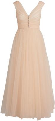 Giambattista Valli Crystal Tulle Pleated Dress