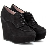 Opening Ceremony PENNY OXFORD SUEDE PLATFORM WEDGES