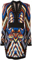 Balmain inca pattern dress - women - Viscose - 36
