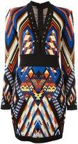 Balmain inca pattern dress - women - Viscose - 38