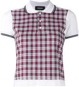 DSQUARED2 plaid polo shirt