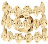 Valentino Three strand skull-embellished bracelet