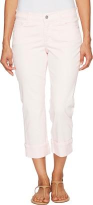 NYDJ Women's Petite Dayla Wide Cuff Capri Jeans in Colored Bull Denim