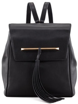 Brian Atwood Juliette Small Leather Backpack with Tassel