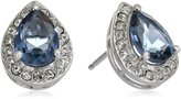 Amazon Collection Sterling Silver Swarovski Antique Crystal and Clear Crystal Pear Earrings
