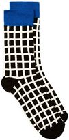 Topman Black And White Check Socks