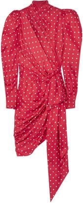 Alexandre Vauthier Asymmetric Polka-dot Silk-twill Mini Dress