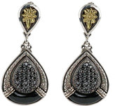 Konstantino Asteri Pave Black Diamond & Onyx Double-Drop Earrings