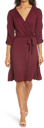 Loveappella Tie Waist Wrap Dress