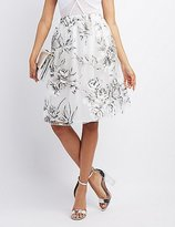 Charlotte Russe Floral Organza Midi Skirt