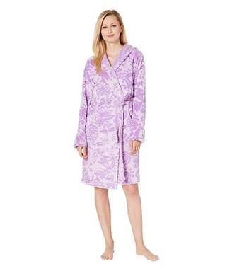 Vera Bradley Fleece Robe (Lavender Mocha Mint) Women's Robe