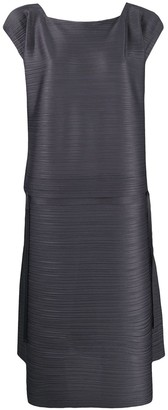 Pleats Please Issey Miyake Ribbed Textured Dress