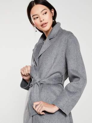 MANGO Tie Waist Belted Coat - Grey