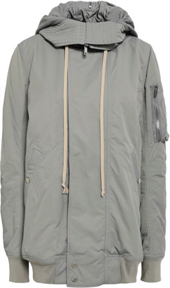 Rick Owens Cotton-blend Hooded Jacket