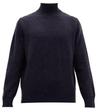 Thom Sweeney - Wool-blend High-neck Sweater - Mens - Navy