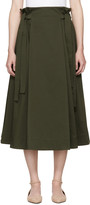Rosetta Getty Green Knotted Pull-on Skirt