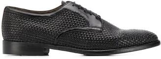 Silvano Sassetti woven Derby shoes